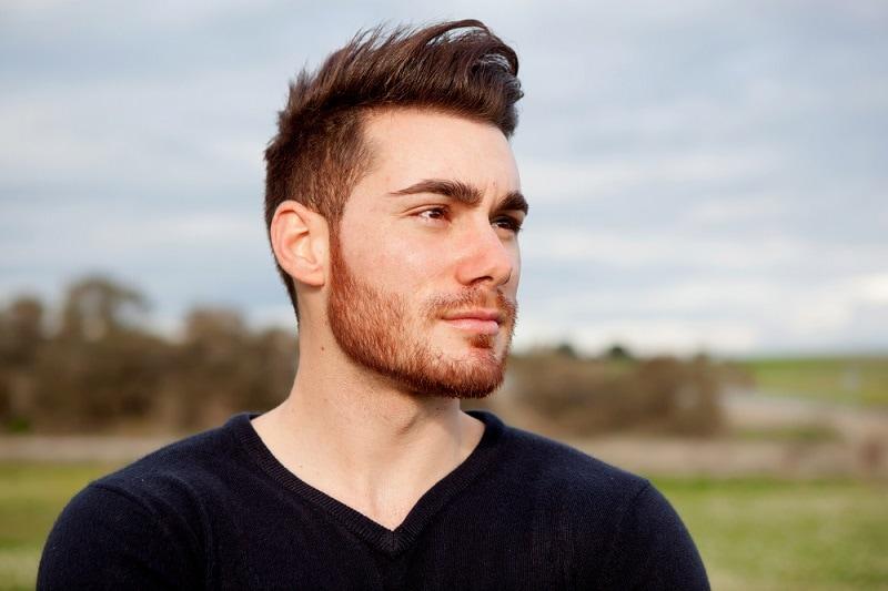 cleanshort beard