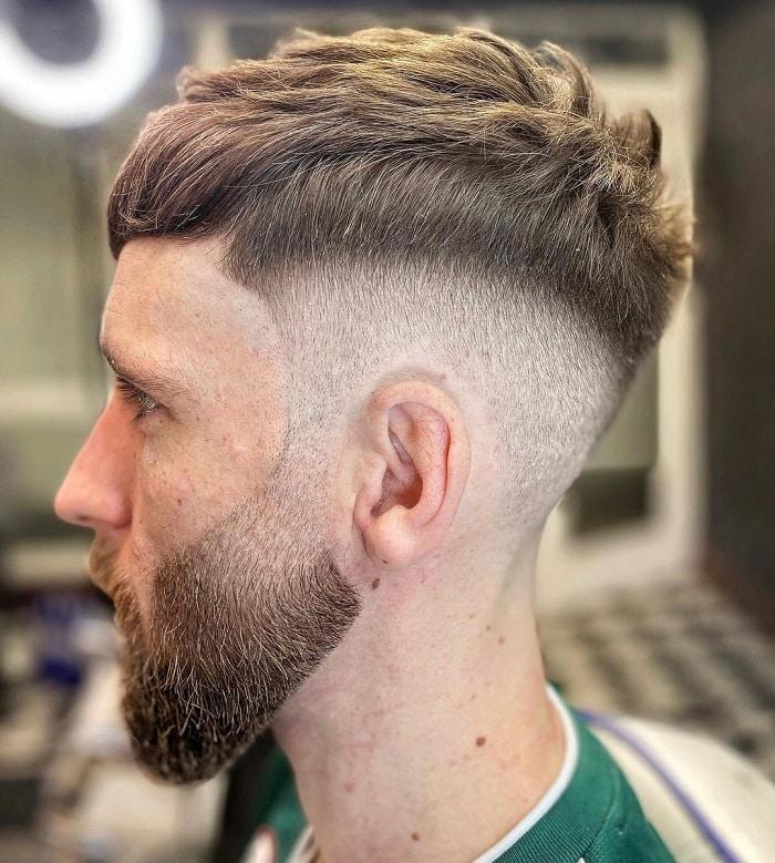 faded short beard