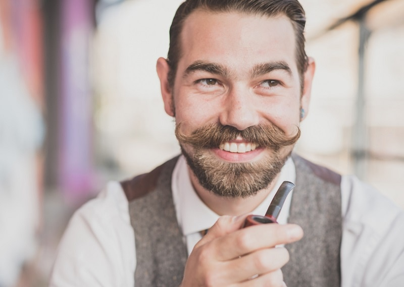 hipster beardstache