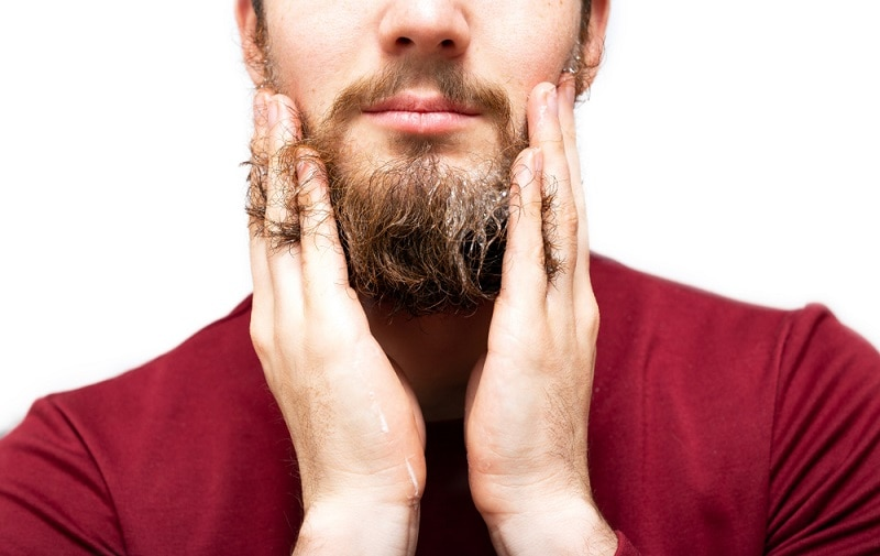 straightening beard with chemical