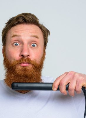 tips to straighten a curly beard